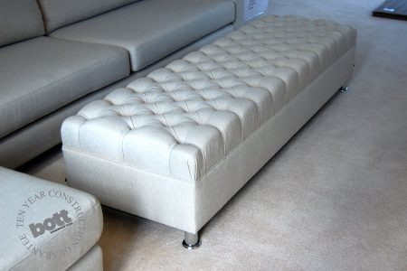 Buttoned long Ottoman-stool - Storage Ottomans And Stools Archives - Bott  Handmade Sofas Ltd