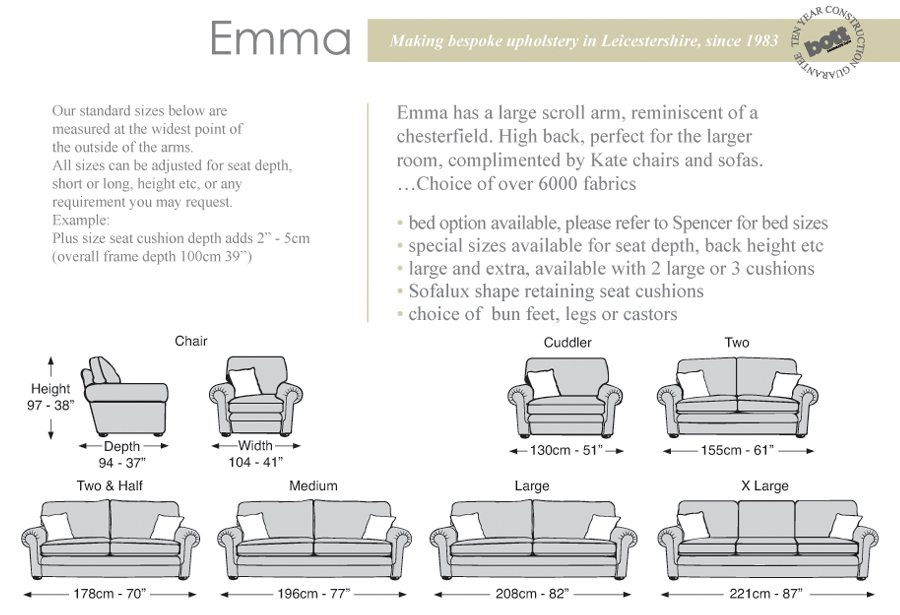 Sofa Size Guide Savaeorg