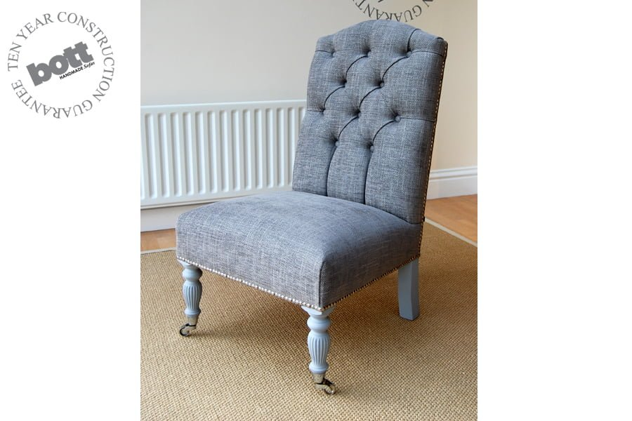 small upholstered chairs for bedroom emily bedroom chair bott handmade sofas ltd 19879